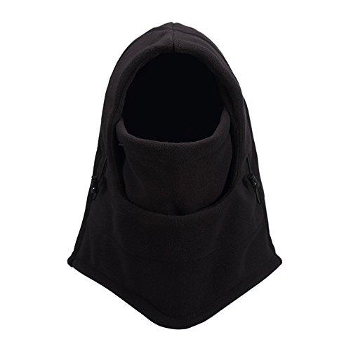 OneTigris Outdoor Fleece Sturmhaube Balaclava Gesichtshaube Skimaske Schlupfmütze (Schwarz)