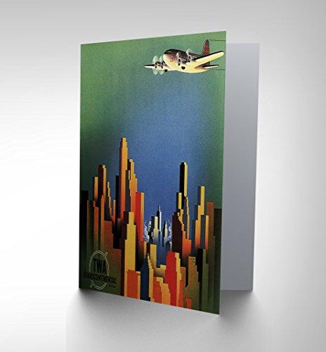 travel-twa-air-flight-plane-city-skyscraper-usa-ad-greetings-card-cp1361