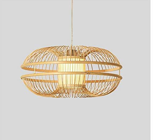 mpshade Lighting Chandelier Bamboo Wicker Rattan Bud Pendant Light Fixture Rustic Japanese Modern Hanging Lamp Lustre Avize Luminairia Design Living Room ()