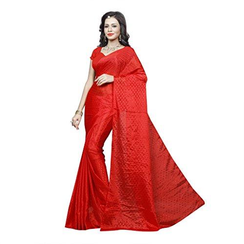 Sonika Brasso Saree (Cnn015_Red)