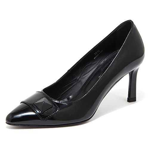 80278 decollete TOD'S CUOIO PIRAMIDE scarpa donna shoes women Nero