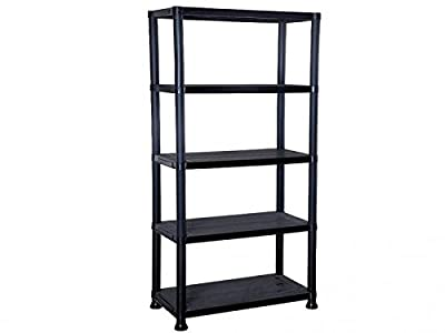 5 Tier Plastic Rack Shelf Shelving Racking Shelves Storage Display Unit