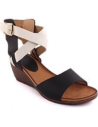 Unze Nouveau Femmes 'Hercules' Ancient Greek Wedge Sandales Summer Beach Travel School School Carnival Casual Shoes Royaume-Uni Taille 3-8