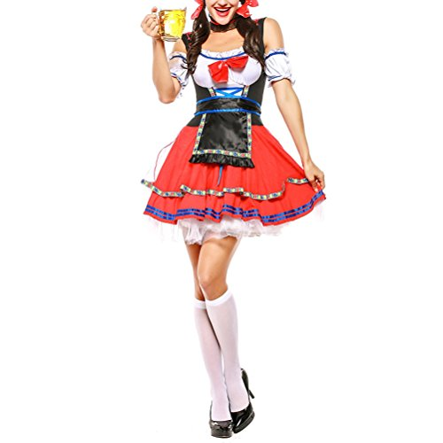 Zhuhaijq Ladies Halloween Oktoberfest Bier Mädchen Kostüm Kostüm -