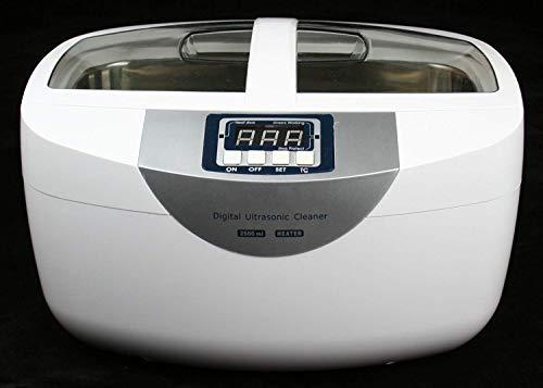 MTSBW Ultrasonic Cleane 70W 2.5L Digital Heated Cleaner Adatto per La Pulizia di Occhiali/Gioielli/Orologi/Verdure/Frutta/Protesi
