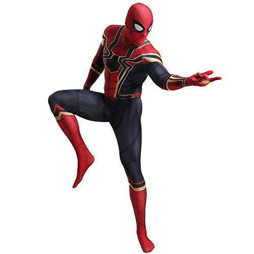 ecoming Kostüm, Avengers Endgame Iron Man Spider-Man, Kinder Adult Movie Cosplay Overall,Adult-L ()