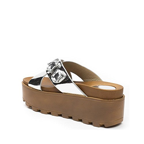 Ideal Shoes , Infradito donna Argento ...