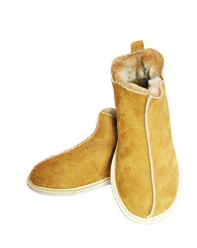 SALE VEGAS Slippers Sheepskin slippers Chestnut Wool Slippers. Warm & Lovely Genuine Slippers , PERFECT FOR GIFT. ankle Boot Slippers.Schaffell Pantoffeln / Hausschuhe Slipper (39)