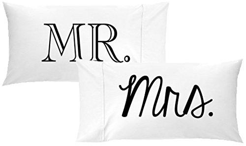 au Paare Kissen Hochzeit Jahrestag Geschenke für SIE oder Ihn HIS und Hers Geschenk (Zwei Kopfkissenbezügen 50,8x 101,6cm King Size unterschiedliche Schriftart) ()