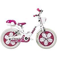 """IBK Bici Bicicletta Bimba 20"""" Pollici Dolly su Sfera Raggi Regolabili Freni V-Brake Rosa Bianca (Bianca)"""