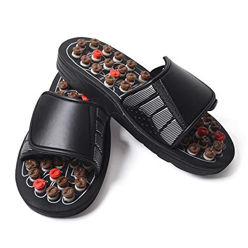 Fußreflexzonenmassage Sandalen, Akupressur Therapeutische Fußmagnetische Massage Hausschuhe Schuhe - Entspannen Medizin