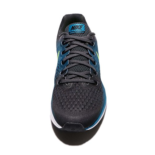 Nike Herren Air Zoom Pegasus 34 Laufschuhe, Schwarz/Rot Anthracite/Volt/Blue Orbit/Black
