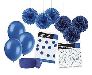 Unique Party- Party Kit, Color azul rey (63841)