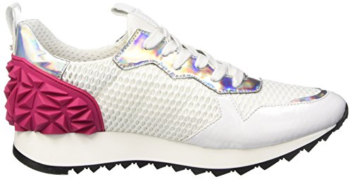 Cult Cream Scarpe Low-Top, Donna Bianco (White/Fucsia)