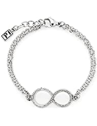Leonardo Damen-Armband P1 Endless Edelstahl Glas transparent - 015777