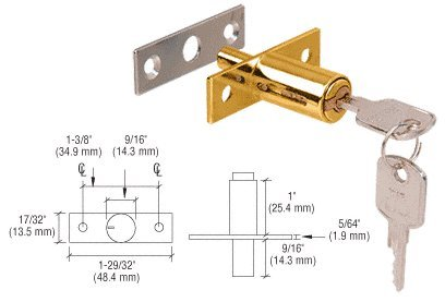 CRL Gold Plated Deluxe Plunger Lock