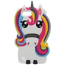 iPod Touch 6 Coque, iPod Touch 6 étui, [ unicorn ] TPU Flexible Soft Durable Protection du corps pleine nature Cover, Shock Rides Résistant [ 3D Case Cartoon Licorne cheval ]