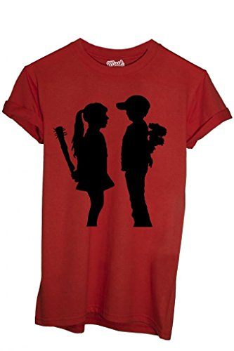 T-SHIRT BANKSY BAMBINI - FAMOSI by MUSH Dress Your Style ROSSO