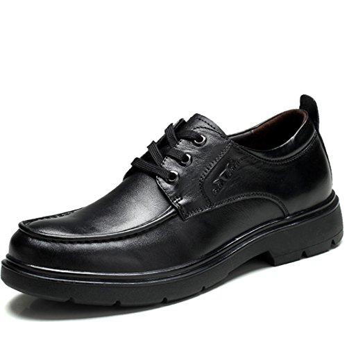 MLMHLMR Herren Business Casual Schuhe Herren Oxford British Single Schuhe Mit Low to Help Dress Shoes Lederschuhe für Herren (Color : Black, Size : 8.5 D(M) US) -