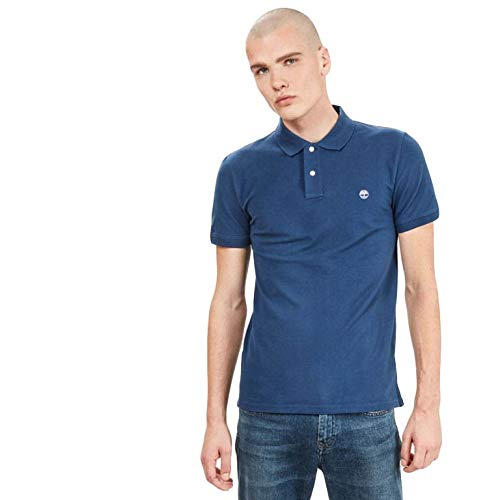 Timberland Herren SS Merrymeeting Rv Stretch Pique Polo Slim Poloshirt, Blau (Dark Denim 288), X-Large (Herstellergröße:XL)