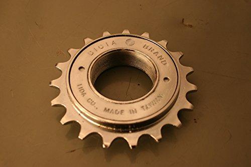 Dicta lässt es Single Speed mit 19, 20oder 22Zähne, Bronze oder Chrom, 1/20,3cm-Track Chrome Plated Silver 22T 1/8