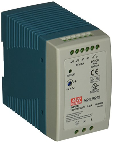 MEAN WELL MDR-100-24 AC to DC DIN-Rail Power Supply, 24V, 4 Amp, 96W, 1.5 by MEAN WELL 24vac 4 Amp