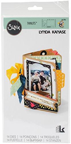 Sizzix 661396Thinlits Stanzschablonen im Set, für EIN Mini-Album, von Lynda Kanase, 14 Stück -