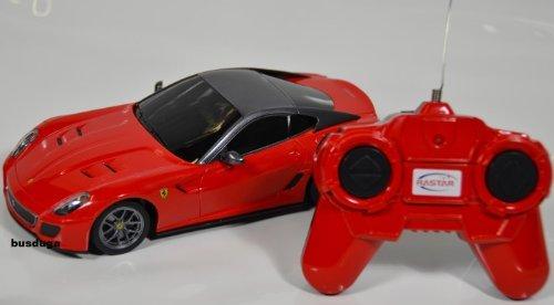 RC Ferrari 599 GTO - Maßstab.: 1:24 - ferngesteuert - komplett Set - Farbe.: rot - LIZENZ-NACHBAU