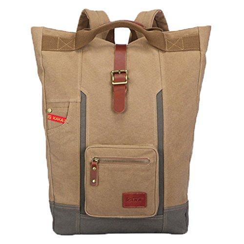 Ohmais Rücksack Rucksäcke Rucksack Backpack Daypack Schulranzen Schulrucksack Wanderrucksack Schultasche Rucksack für Schülerin kaki