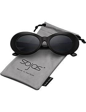 Sojos Lentes De Sol Mod Oval Style Marco Grueso Retro Kurt Cobain Sunglasses SJ2039