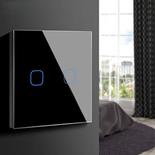 Aimengte Interruptor táctil inteligente LED capacitivo, resistente al rayado A prueba de...
