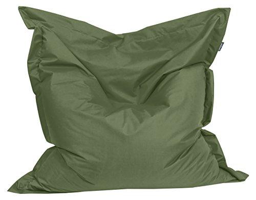 BuBiBag 1-khaki-180x140cm Sitzsack, Stoff, khaki, 180 x 140 x 20 cm