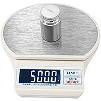 WINOMO 3000g/0,1g Alta Precisione di Elettrico Pro Cibo Scala Mini Digitale Bilancia da Cucina (Bianco)
