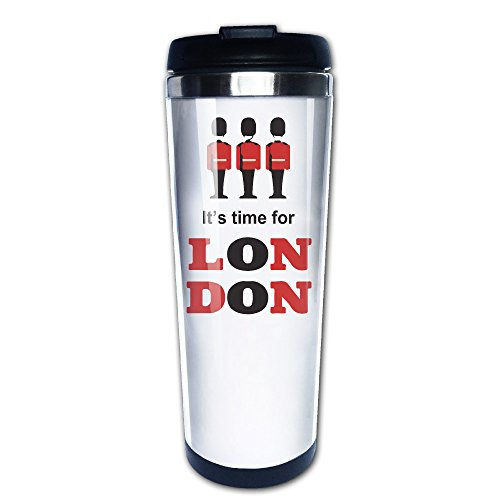 (bigkin ES IST ZEIT FÜR London Edelstahl Becher/Kaffee Tasse Thermos & Isolierflasche)