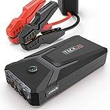 TACKLIFE T8 MIX Arrancador de Coche - 500A 12000mAh Jump Starter, Batería Arrancador de Coche (Hasta 4.0L Gas o 2.0L Diesel), con USB Puerto de Carga Rápida, LED Linterna, Brújula