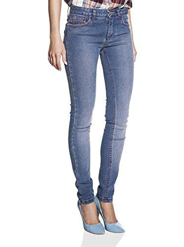 Wash Tapered Leg Jeans (Oranjeans - Slim Fit Jeans für Damen mit 5 Taschen normaler Bund Stein Waschen mit Push-Up-Effekt 36)