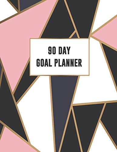 90 Day Goal Planner: Mosaic Design with Pink Purple White & Black | 3 Month Organizer to Plan Ahead | Quarterly Planner For the Office, Family or Events | Includes 2019 Calendar -