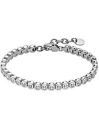 Heideman Amilla 2 Tennisarmband mit Swarovski Steinen Armband mit Verlängerung Armkette Schmuck Armband Damen Armkettchen Glitzerarmband Hochzeitsschmuck