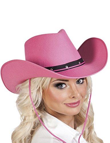 Sombrero vaquero rosa adulto - Única