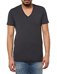 SELECTED HOMME Herren T-Shirt Pima Drill Ss Deep V-neck Noos Id