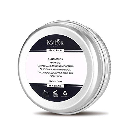 Beard-Balm-100-Natural-Premium-Wax-Blend-with-Sandalwood-ScentNutrient-Rich-Bees-WaxJojobaTea-TreeArgan-Oil