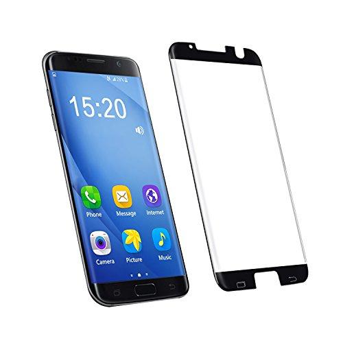 Samsung Galaxy S7 Edge Panzerglas Schutzfolie 1 Stück volle Abdeckung Panzerfolie Bildschirmschutzfolie für Samsung Galaxy S7 Plus Panzerfolie Bildschirmschutz Folie hüllenfre&lich Schwarz