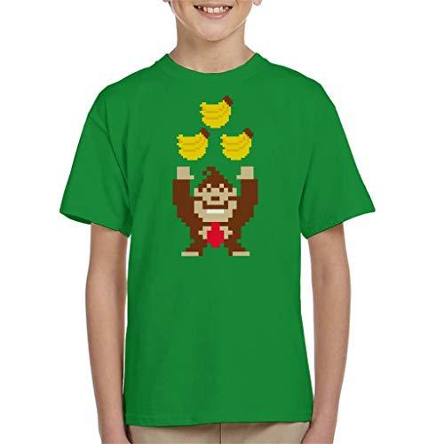 Donkey Kong Tribananas Kid's T-Shirt Kelly Green