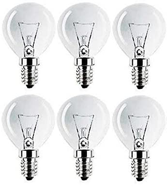 Eveready 6 x 60W Classic Mini Globes Clear Round Light Bulbs, SES E14 Small Screw, Golf Ball Incandescent Dimmable Lamps, 660 Lumen, Mains 230V-240V by Branded