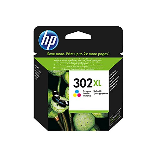 HP 302XL High Yield Tri-colour Original Ink Cartridge -