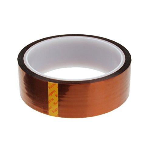 Preisvergleich Produktbild Tinksky 30mm * 33m Hohen Temperaturen Hitzebeständig Tape Polyimid Film Klebeband (Tawny)