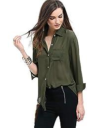 Suchergebnis auf Amazon.de für  Grüne Hemden - Blusen   Tuniken ... 110f8d4cd3