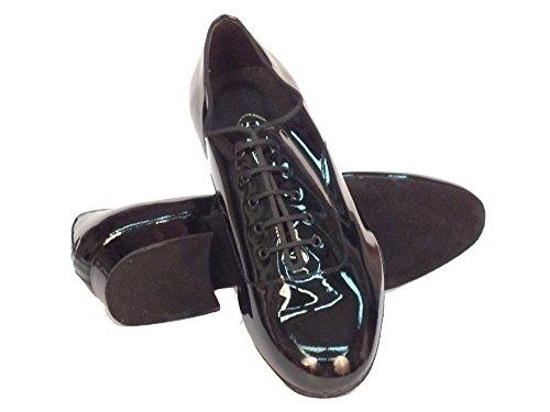 Gloss Schwarz Tanzschuhe Showman Sapatos Dança De Vitiello Preto Herren TnPq0x