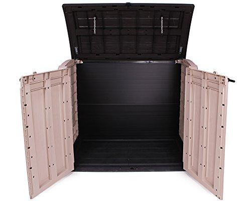 Keter Gerätebox für Garten Mülltonnenbox Store It Out Arc beige braun - 2