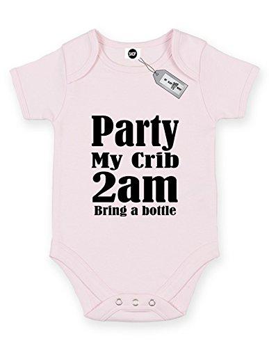 1 Kostenlose Flasche (Eat Sleep Shop Repeat Party My Crib 2Am Bring eine Flasche Short Sleeve Baby Body Strampler. KOSTENLOSE Lieferung IM LIEFERUMFANG Enthalten, Pink, BG029-30)